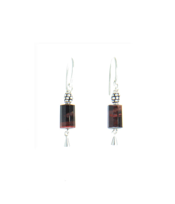 Red Tiger Eye Earrings - root chakra earrings