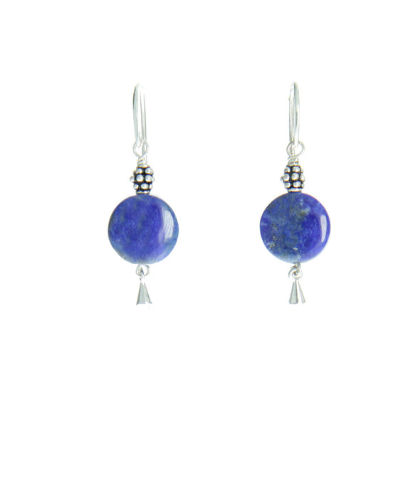 Lapis Lazuli Earrings for Third Chakra