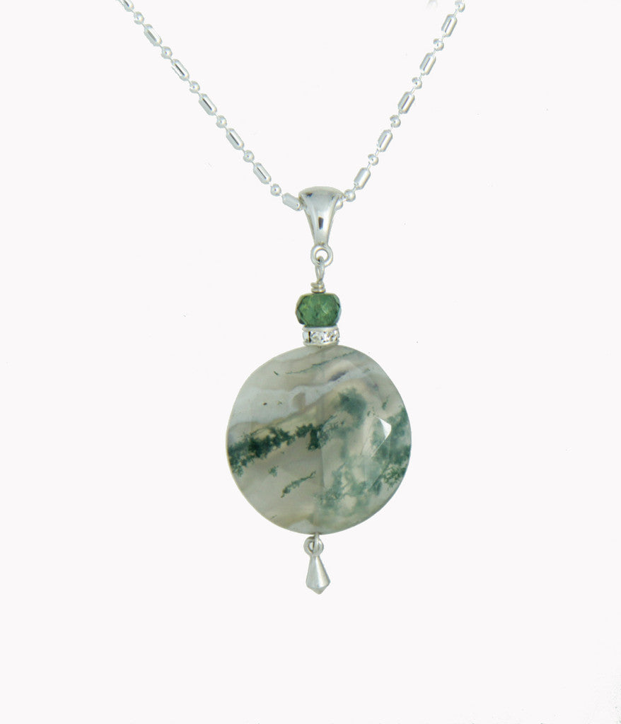 necklace moss agate product