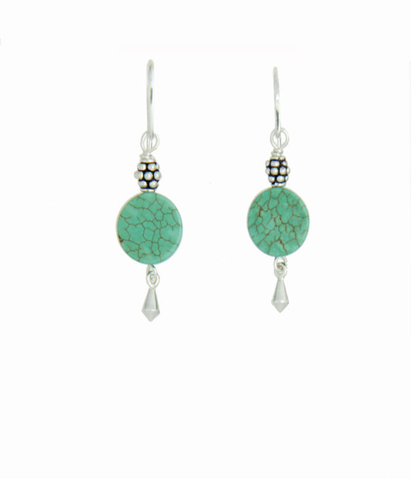 Stabilized Turquoise Earrings for Heart Chakra