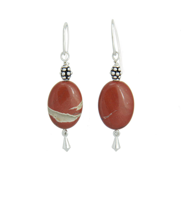 Picture Jasper Earrings - Root Chakra
