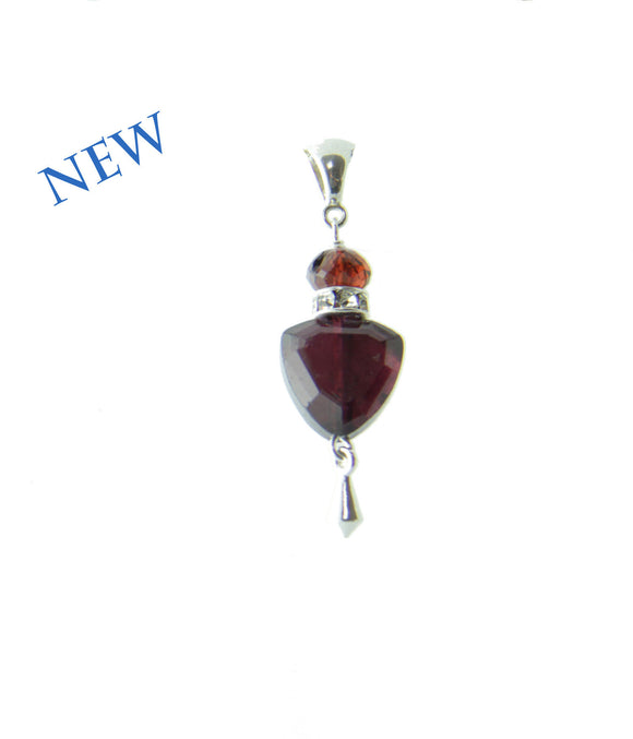 Garnet Trillion Pendant for Root Chakra