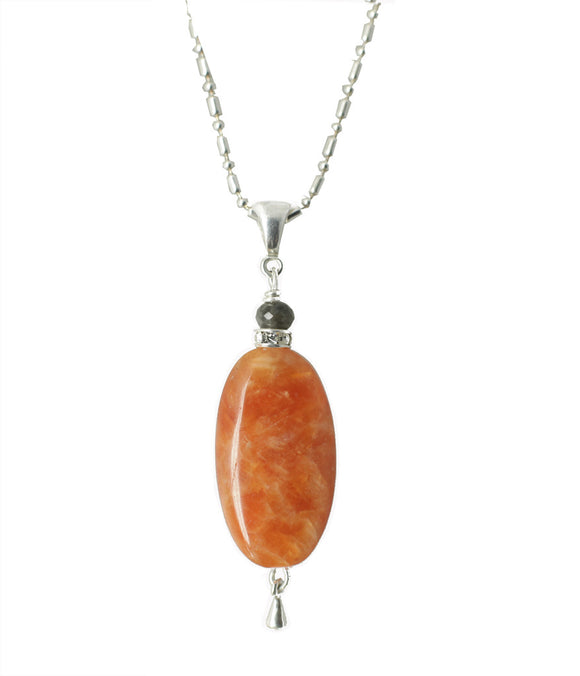 Orange Calcite Necklace - sacral chakra necklace