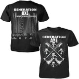 Generation Axe Skeleton Tour Tee