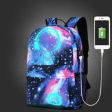 Galaxy Space USB Charging Anti-Theft Lock Backpack