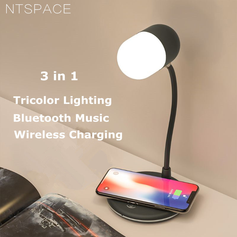 Bluetooth Sound Wireless Charging Desk Lamp