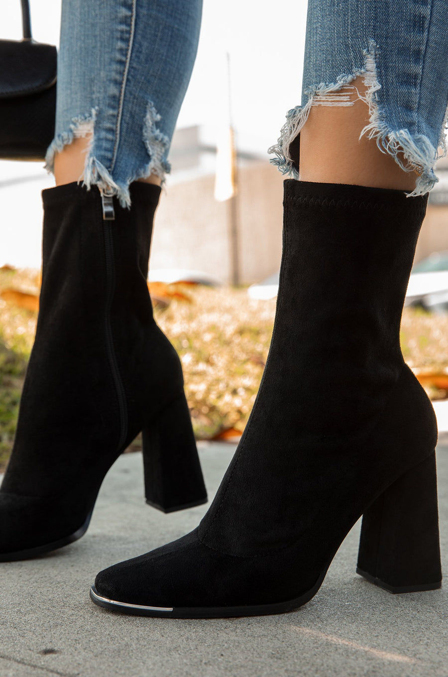 Alliyah Booties- Black