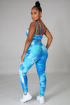 Two Piece Blue Muti Legging Set