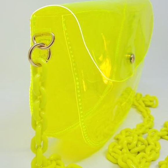 Clarissa Bag In Neon Lime - Atlanta Shoe Studio