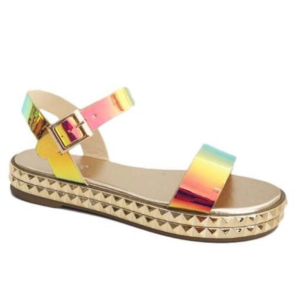 Meagan Multi Color Strappy Sandals