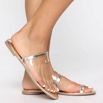 Tammy Rose Gold Single Toe Sandals - Atlanta Shoe Studio