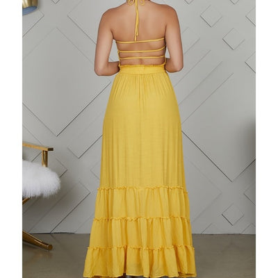 Victoria Pleated Smocked Maxi Dress - Atlanta Shoe Studio