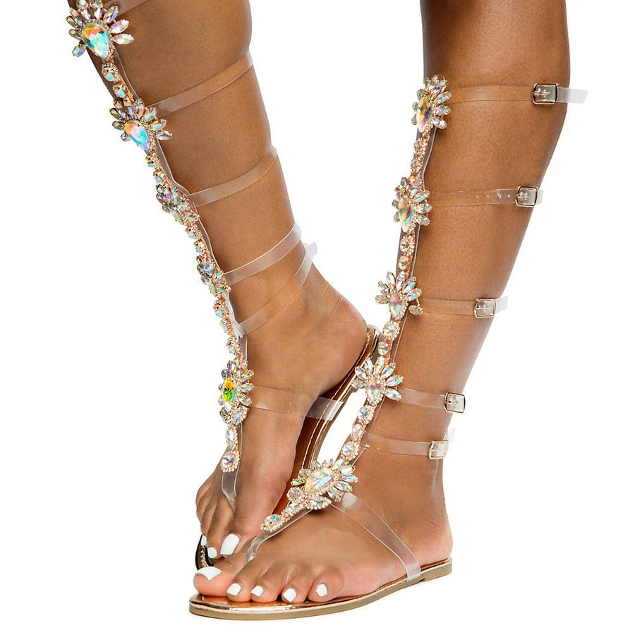 Marlina Rhinestone Gladiator Sandals - Atlanta Shoe Studio