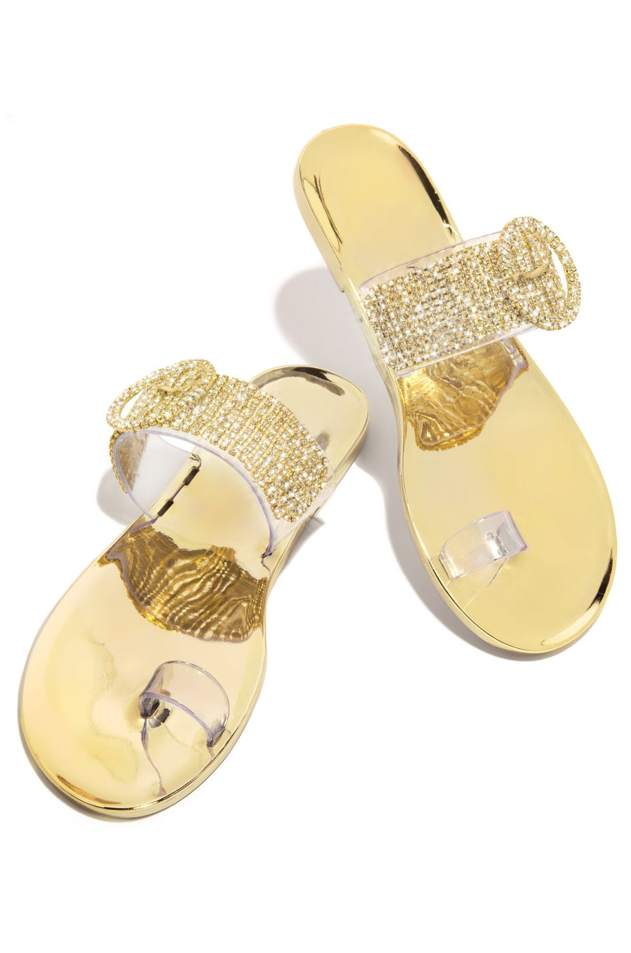 Luna Single Toe Sandals- Gold - Atlanta Shoe Studio