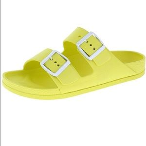 Yasmin  Slide Sandals- Yellow