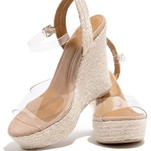 Janice Natural Clear Espadrilles - Atlanta Shoe Studio