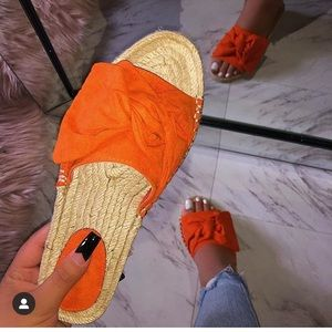 Gabby Sandal - Orange - Atlanta Shoe Studio