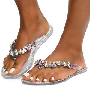 Diana Sandals- Clear. - Atlanta Shoe Studio