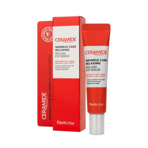 CERAMIDE WRINKLE CARE RELAXING ROLLING EYE SERUM / SUERO ANTIARRUGAS CON CERAMIDAS
