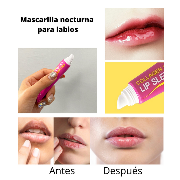 COLLAGEN LUSTER LIP SLEEPING MASK 3 PIEZAS/ MASCARILLA NOCTURNA PARA LABIOS