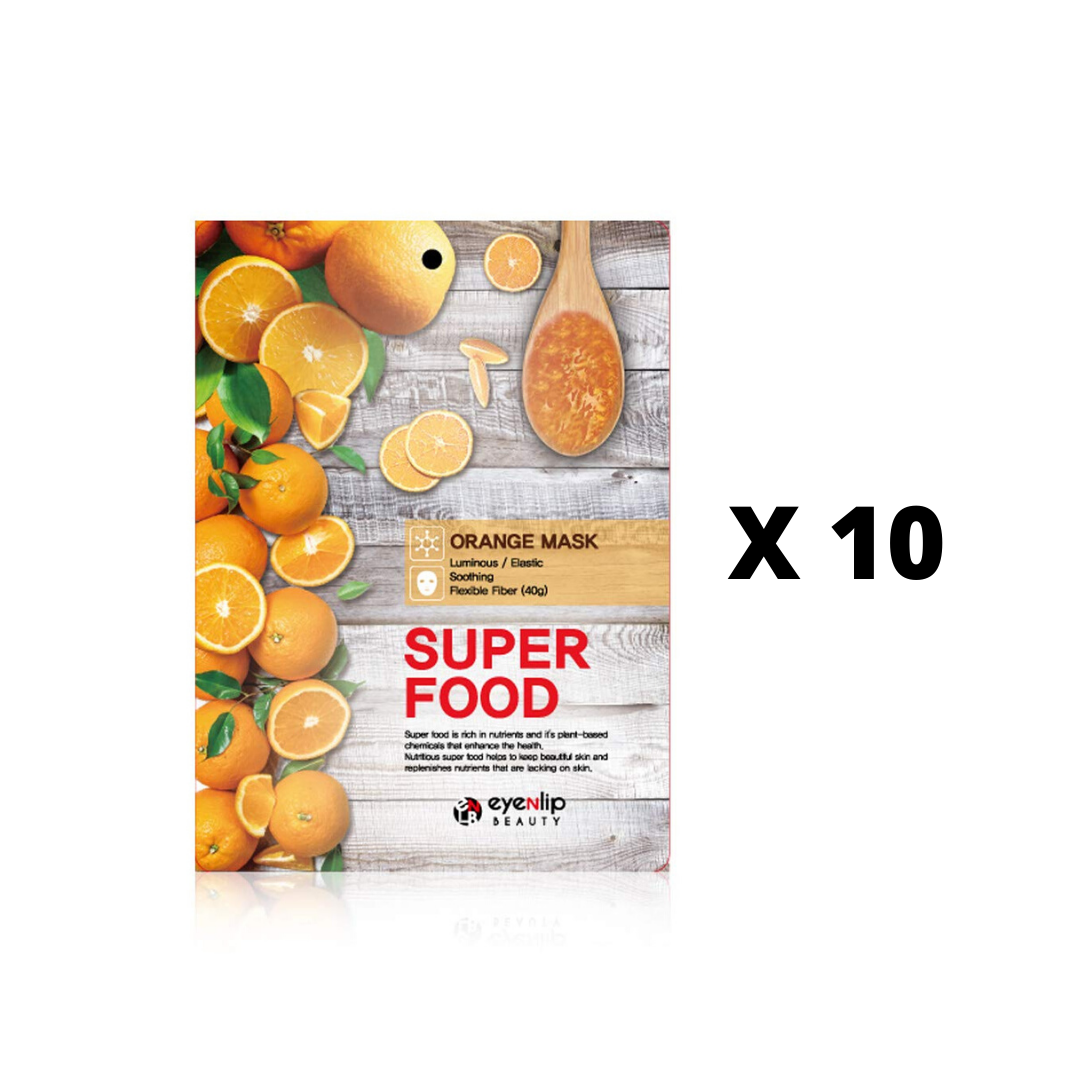 SUPER FOOD ORANGE MASK 10 PIEZAS/MASCARILLA DE NARANJA ILUMINADORA
