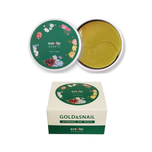 HYDROGEL EYE PATCH GOLD &SNAIL 3 PIEZAS / PARCHES DE HIDROGEL DE ORO Y BABA DE CARACOL