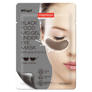 BLACK FOOD MG:GEL UNDER EYE MASK / PARCHES PARA OJOS DE HIDROGEL