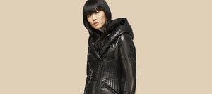 Women's Leather Puffers & Parkas