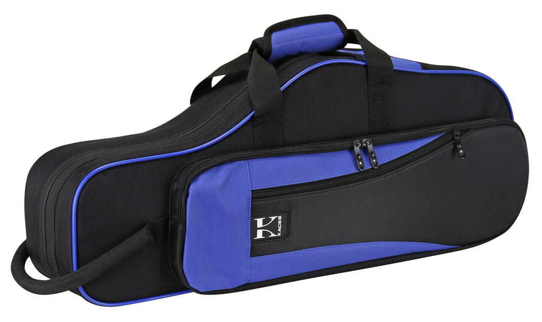 Kaces Lightweight Hardshell Alto Sax Case, Blue