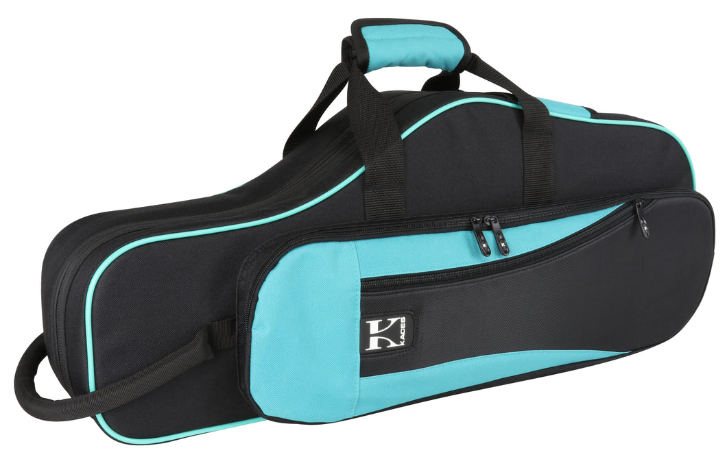 Kaces Lightweight Hardshell Alto Sax Case, Teal