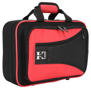 Kaces Lightweight Hardshell Clarinet Case, Red