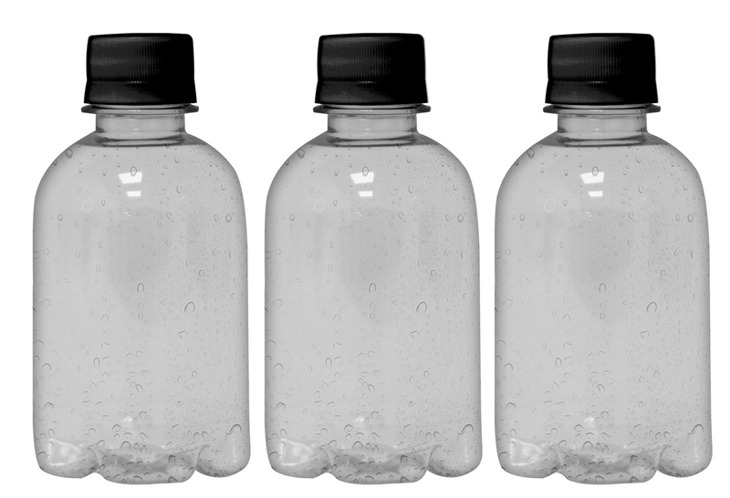 Private Label Premium Sparkling Water 8.4oz (250ml) | 24 Pack Case | Clear Drop Black Cap