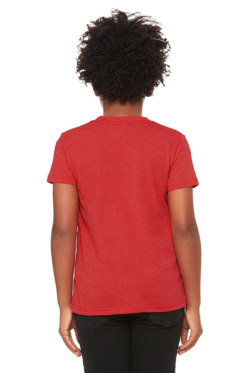 YOUTH SHORT SLEEVE TEE-HEATHER RED