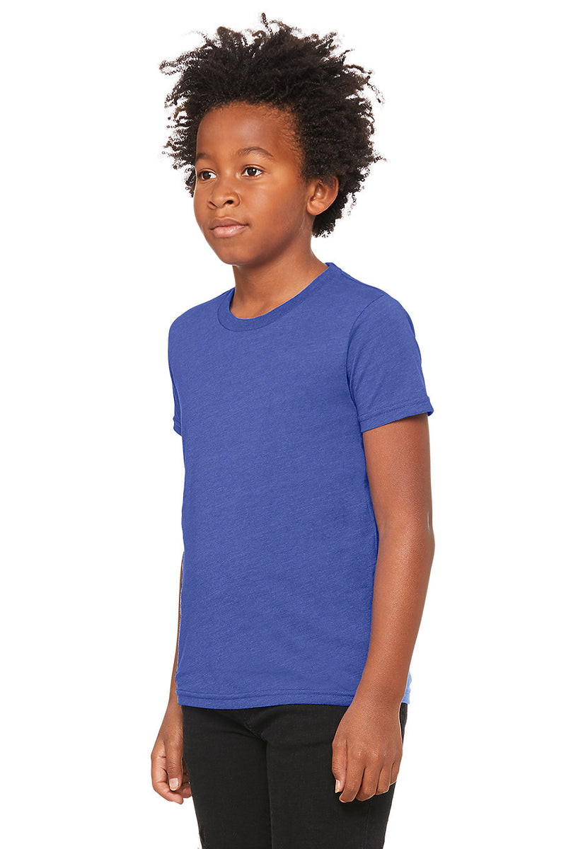 YOUTH SHORT SLEEVE TEE-HEATHER TRUE ROYAL