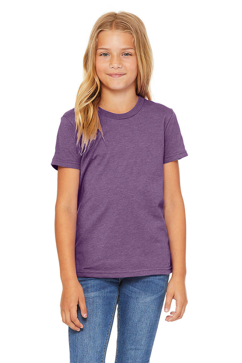 YOUTH SHORT SLEEVE TEE-HEATHER TEAM PURPLE