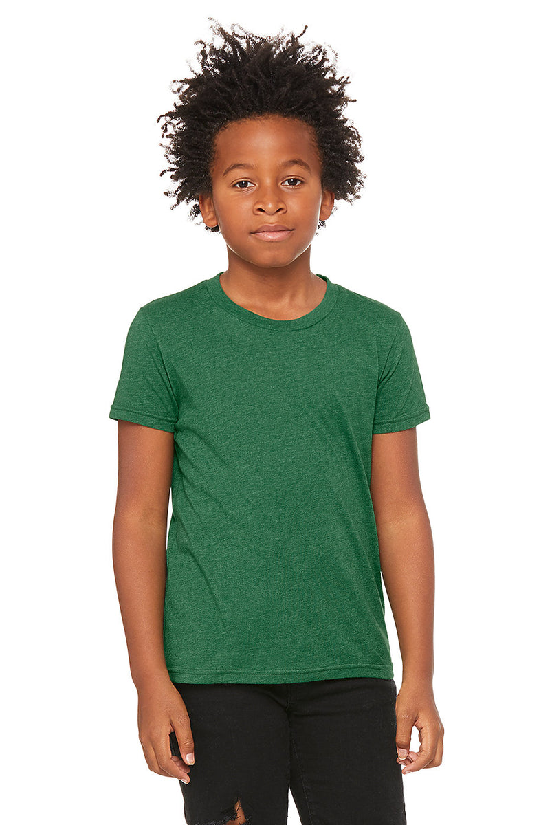 YOUTH SHORT SLEEVE TEE-HEATHER GRASS GREEN
