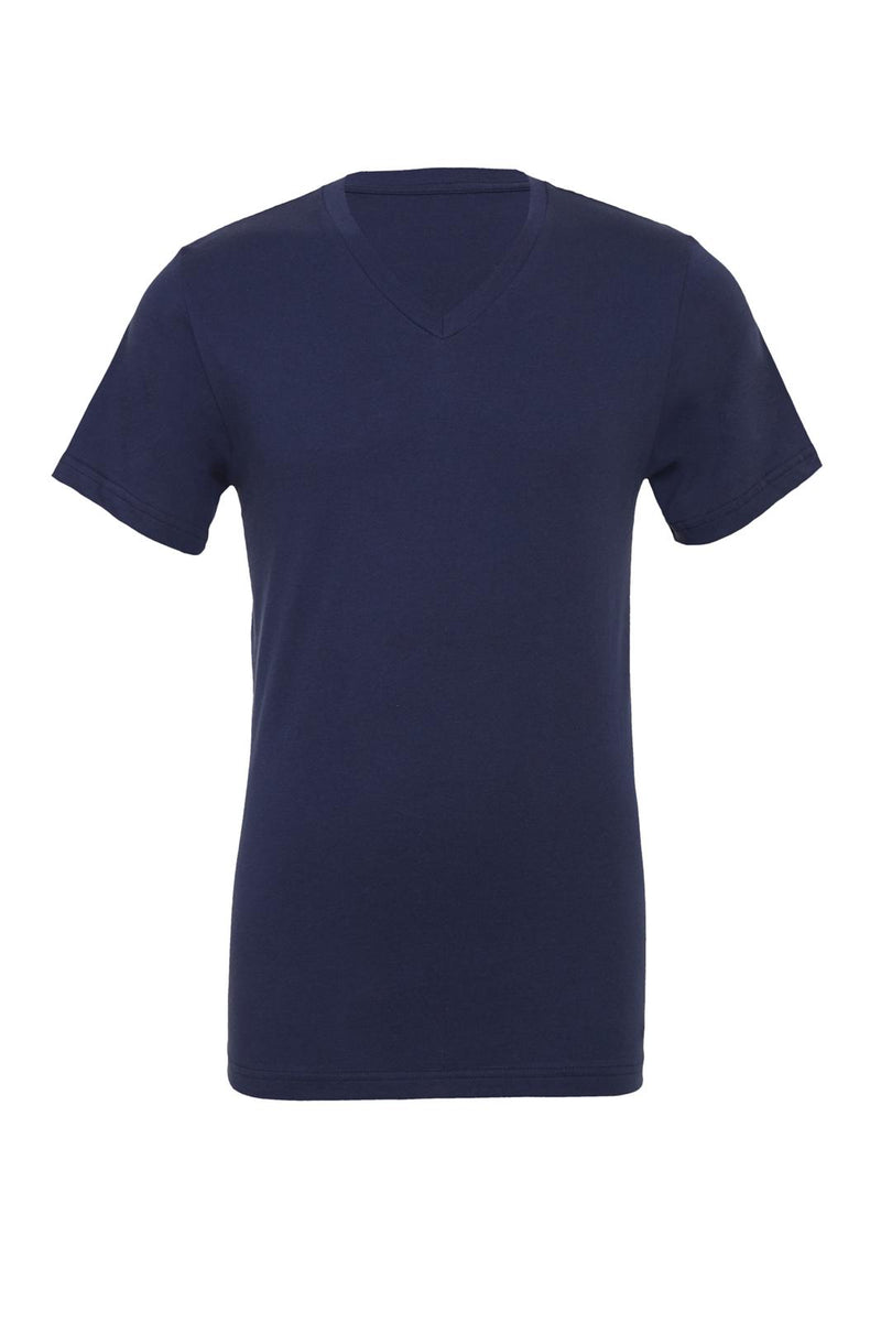 UNISEX JERSEY SHORT SLEEVE V-NECK TEE - Navy