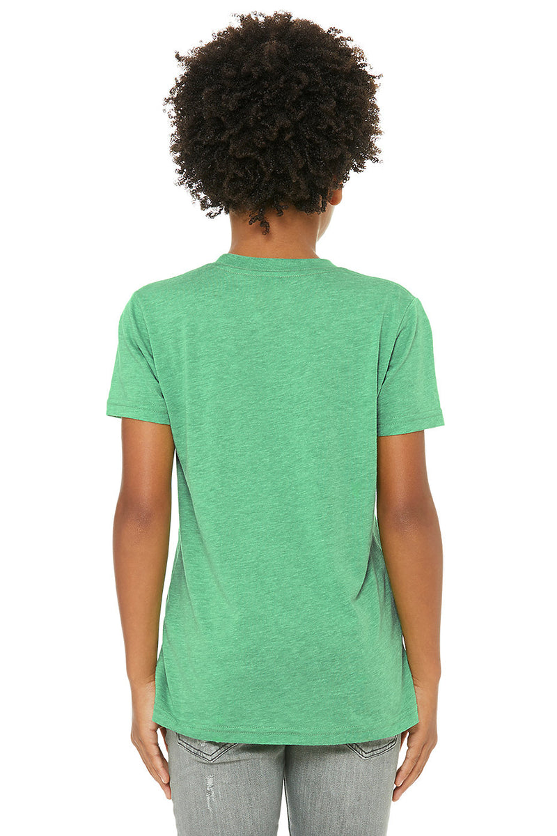 YOUTH TRIBLEND SHORT SLEEVE TEE-GREEN TRIBLEND