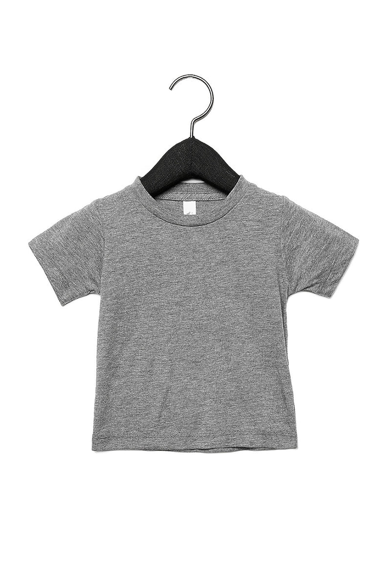 BABY TRIBLEND SHORT SLEEVE TEE-GREY TRIBLEND