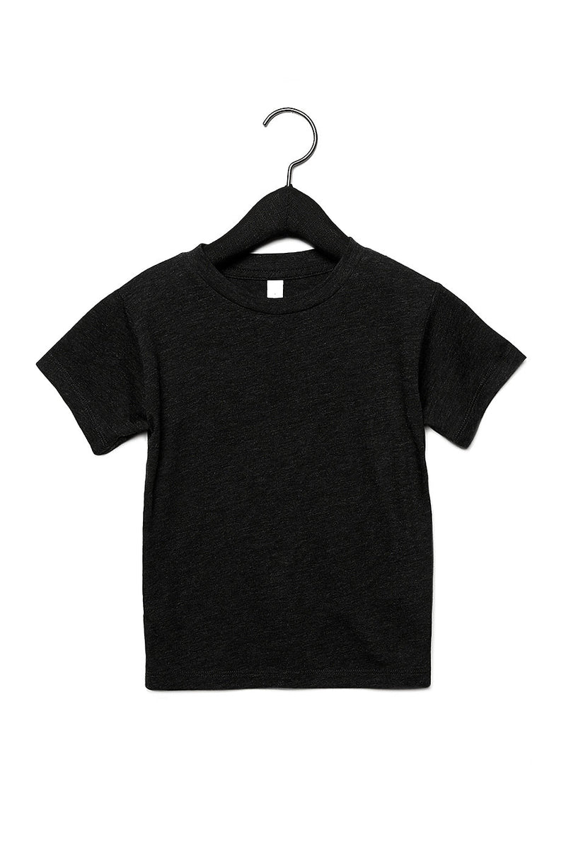 TODDLER TRIBLEND SHORT SLEEVE TEE-CHARCOAL BLACK TRIBLEND