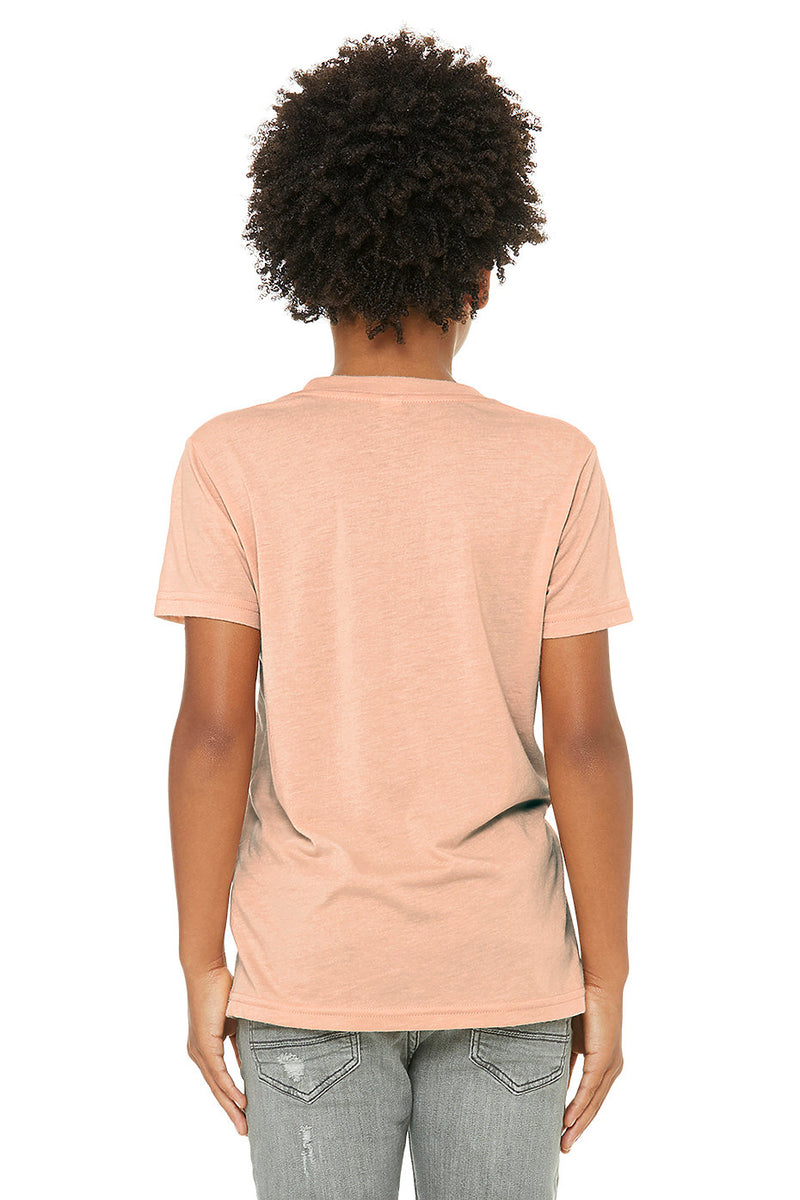 YOUTH TRIBLEND SHORT SLEEVE TEE-MAUVE TRIBLEND