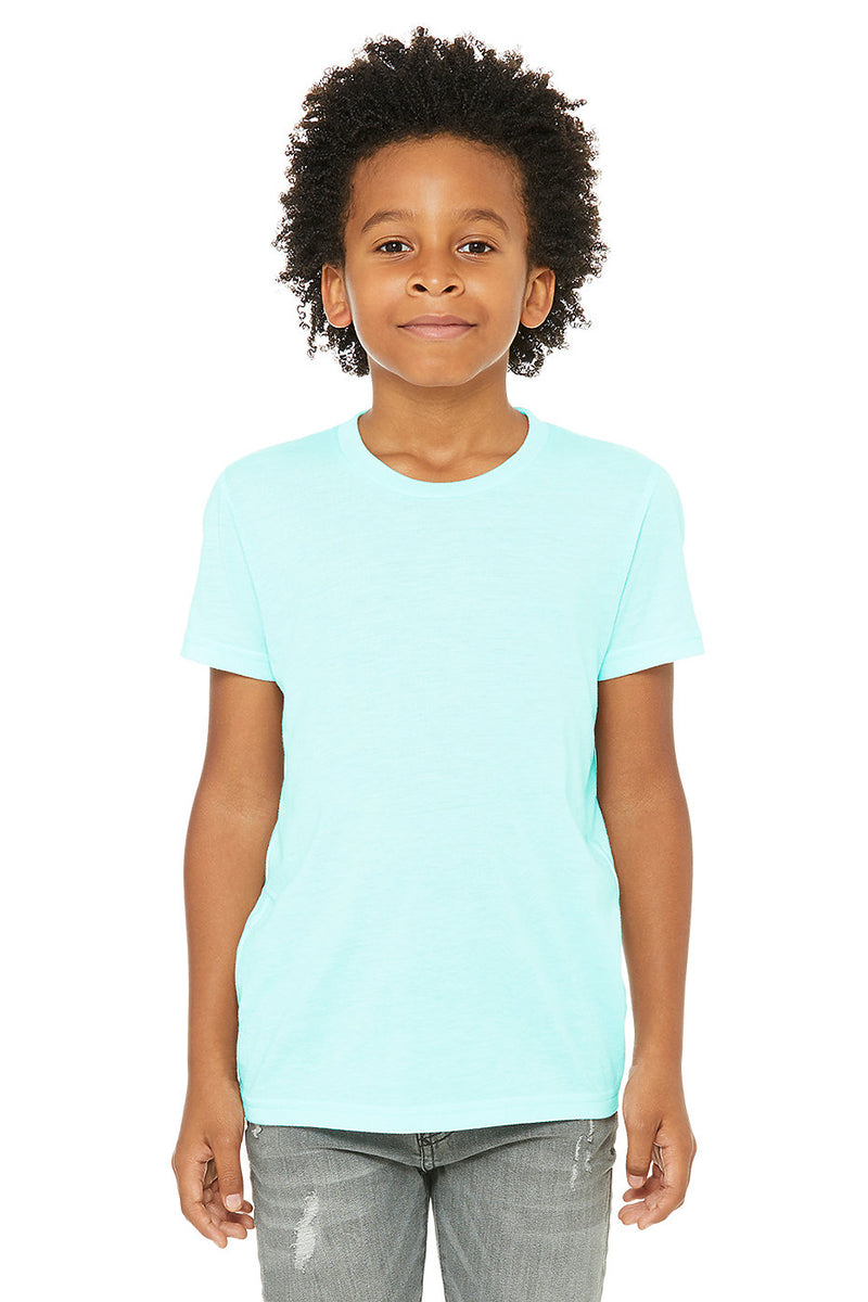 YOUTH TRIBLEND SHORT SLEEVE TEE-ICE BLUE TRIBLEND