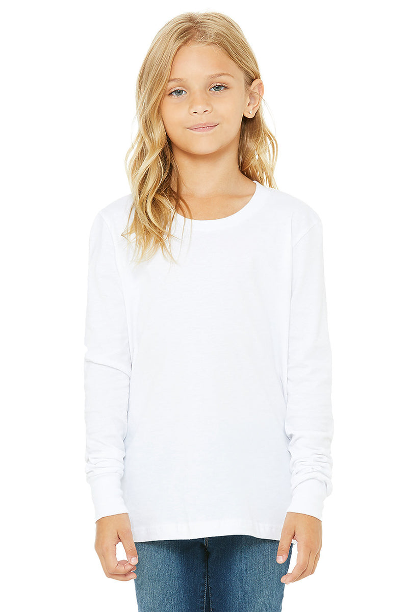 YOUTH JERSEY LONG SLEEVE TEE-WHITE