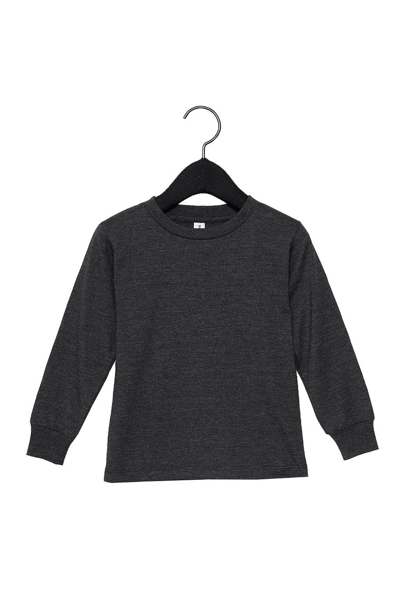 TODDLER JERSEY LONG SLEEVE TEE-DARK GREY HEATHER