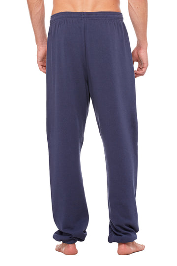 UNISEX SPONGE FLEECE LONG SCRUNCH PANT-NAVY