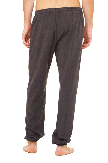 UNISEX SPONGE FLEECE LONG SCRUNCH PANT-DARK GREY HEATHER