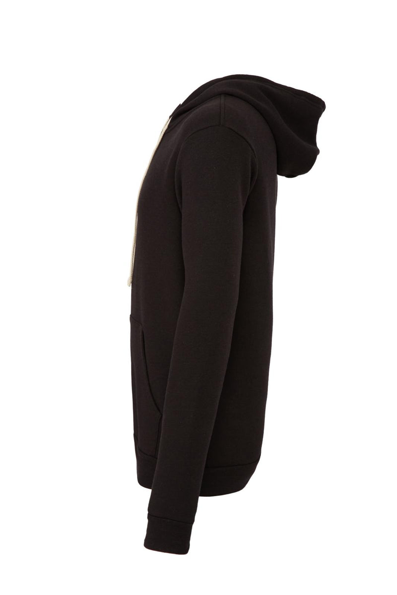 UNISEX TRIBLEND SPONGE FLEECE FULL-ZIP HOODIE-SOLID BLACK TRIBLEND