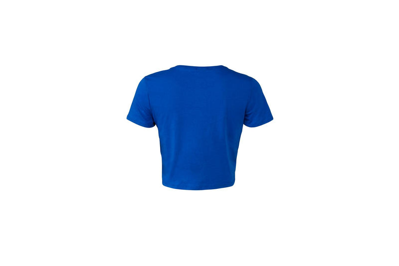Women's Poly-Cotton Crop Tee- True Royal