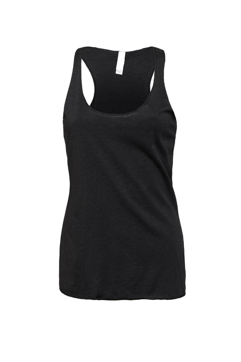 TRIBLEND RACERBACK TANK-CHARCOAL-BLACK HEATHER TRIBLEND