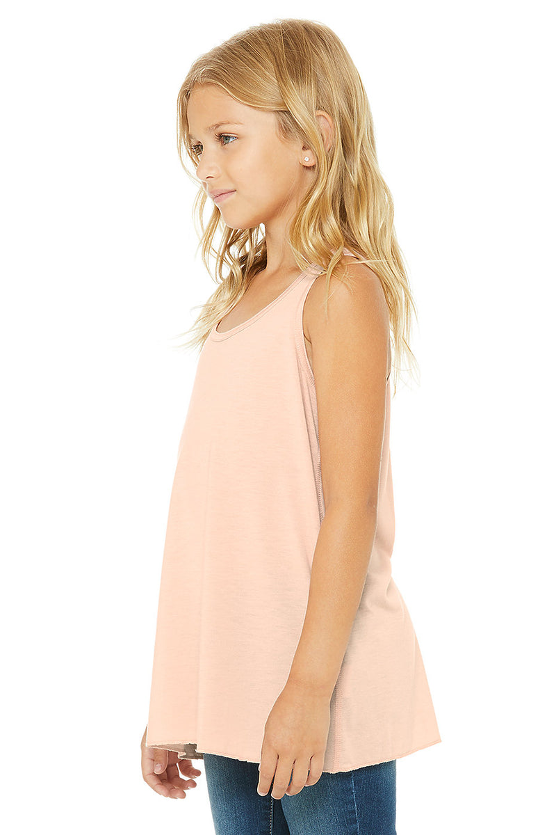 YOUTH FLOWY RACERBACK TANK-PEACH